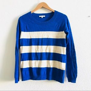 MADEWELL wise stripe lightweight sweater crewneck